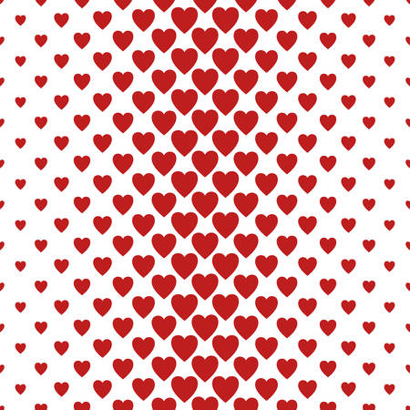 heart pattern: Red and white vertical heart pattern background design