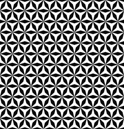 hexa: Seamless abstract geometric monochrome hexagonal pattern design