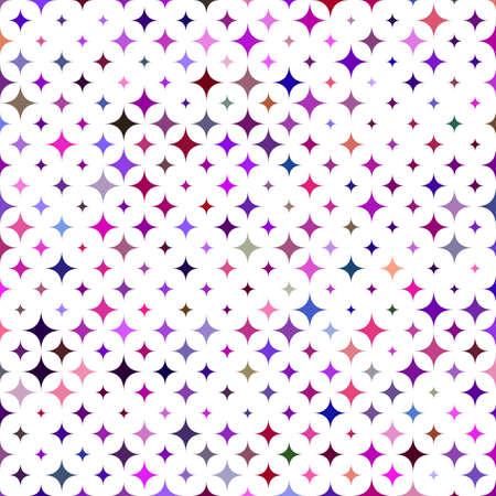star pattern: Multicolored star pattern background design - vector illustration