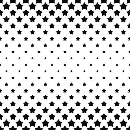 star: Black and white pentagram star pattern - vector background