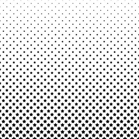 Black and white pentagram star pattern background - vector illustration