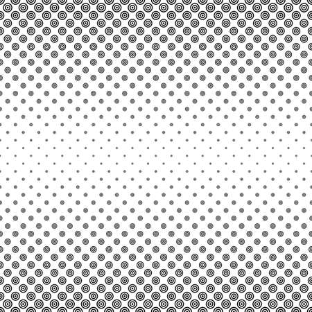 varying: Black and white circle pattern design - vector background