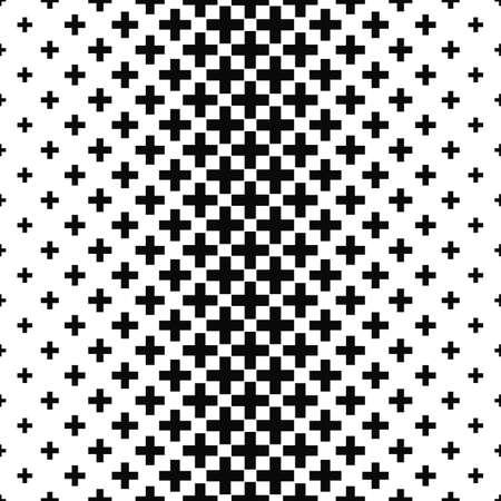 Black and white greek cross pattern design background Vektoros illusztráció