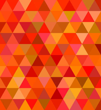Abstract regular triangle tile mosaic background in red tones Illustration