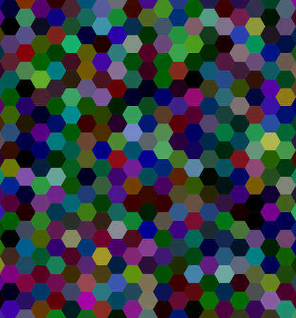 Dark abstract hexagonal tile mosaic background design - vector illustration Illustration