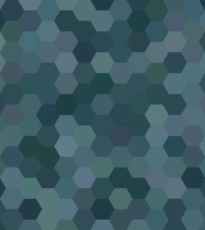Teal color abstract hexagonal honey comb background