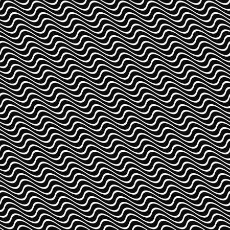 angular: Seamless angular wavy stripe pattern background design Illustration