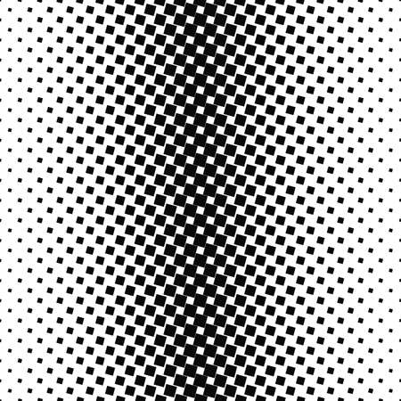 Abstract black and white angular square pattern design background Illustration
