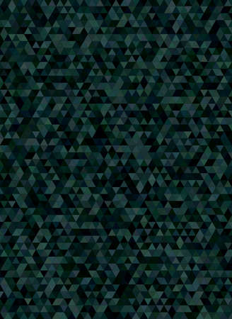 Abstract triangle mosaic background design in dark tones