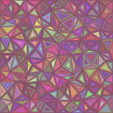 Retro triangle mosaic tile background design