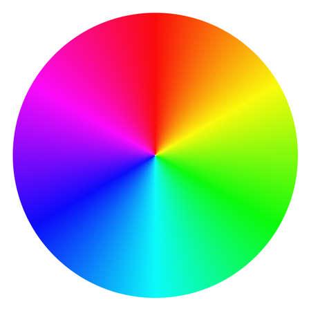 rainbow circle: Isolated gradient rainbow circle design on white background