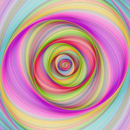 Abstract multicolored hypnotic fractal background from elliptical curves