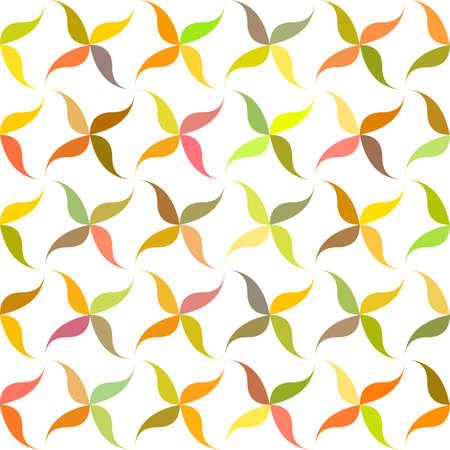 Autumn garden abstract leaf pattern background design Illustration