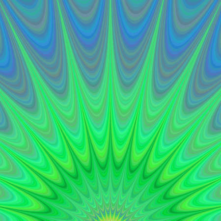 Green sunrise - colorful computer generated fractal background