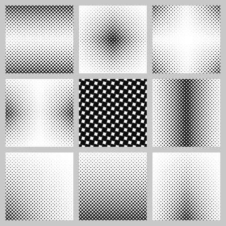 angular: Black and white abstract angular square pattern design set