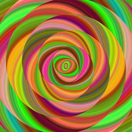 Colorful ellipse fractal spiral design background Illustration