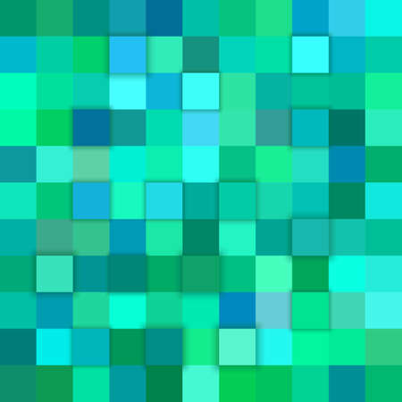 Teal abstract 3d cube background