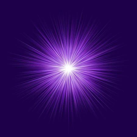 暗い背景に紫爆発デザインを抽象化します。