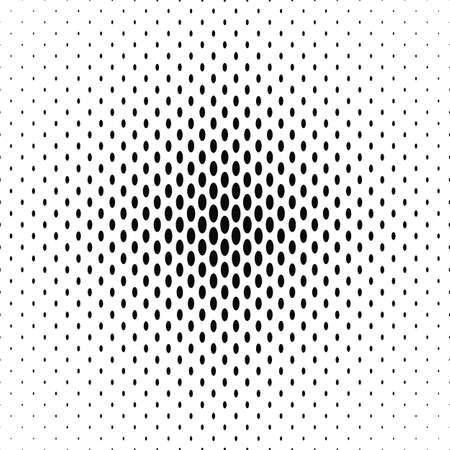 Black and white ellipse pattern background Ilustrace