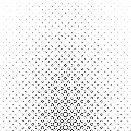 varying: Black white circle pattern - vector background