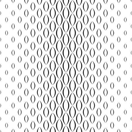 repetitive: Black and white vertical curved shape pattern Illustration