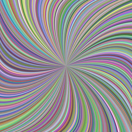 Colorful swirl background from curved spiral rays
