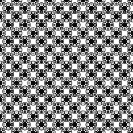 repetitive: Seamless monochrome circle pattern design Illustration