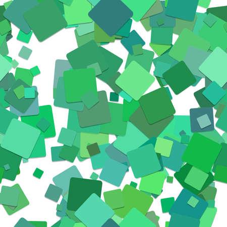 Repeating square pattern background - vector graphic design from rotated green squares