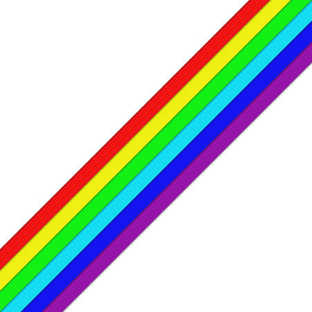 Diagonal rainbow colored stripes - vector graphic element