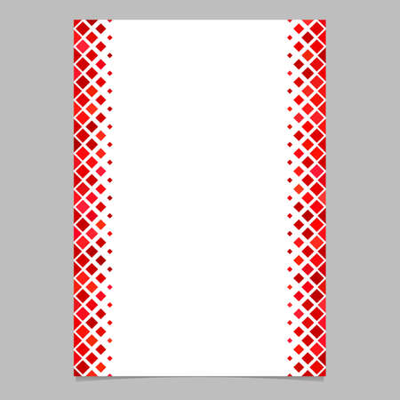 Page template from red diagonal square pattern - vector illustration for brochures, cards