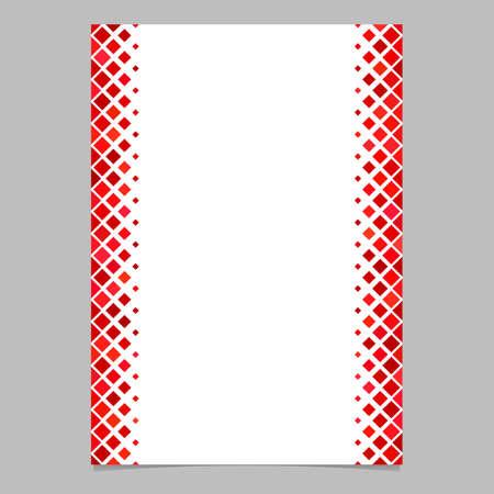 Seitenschablone vom roten diagonalen quadratischen Muster - vector Illustration für Broschüren, Karten Standard-Bild - 82231411