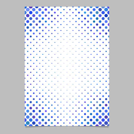 polkadot: Abstract circle pattern page background template - vector design from dots in blue tones for flyers, cards