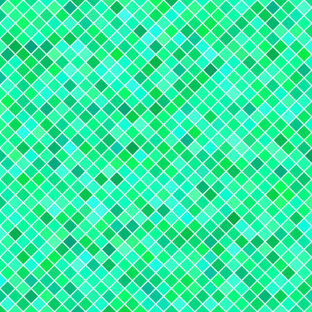Abstract diagonal square pattern background - geometric vector design from green squares