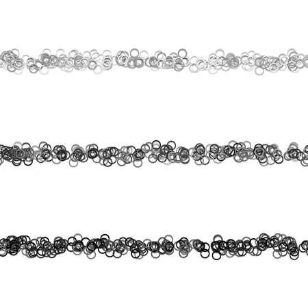 Random circle pattern line divider design set from rings Illustration