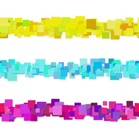 Abstract square pattern page divider line design set - vector design elements