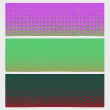sized: Halftone dot pattern banner background - vector graphic from circles Illustration