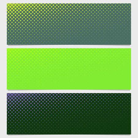 varying: Halftone square pattern banner template design set