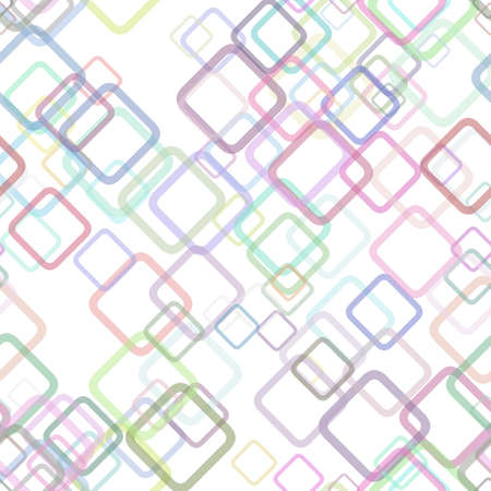 Seamless geometrical square pattern background - vector graphic design from random diagonal squares Illustration
