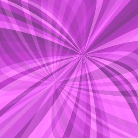 Purple curved ray burst background - vector illustration from curved rays