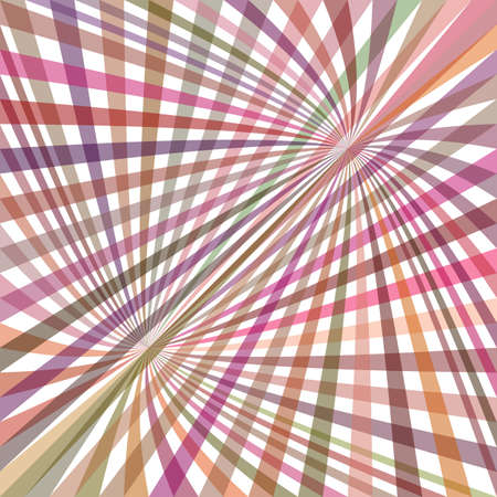 Multicolored curved ray burst background - vector graphic from swirling rays Illustration