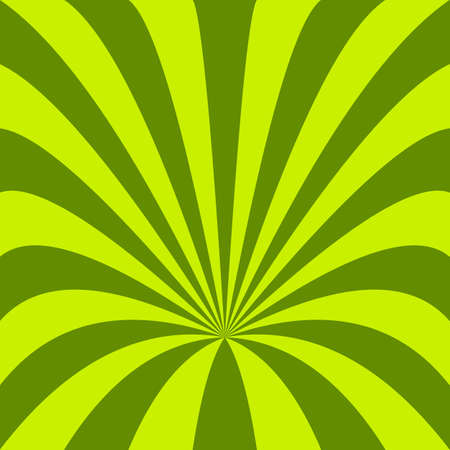 Green funnel background - vector design from curved rays