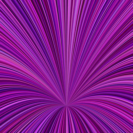 Curved ray burst background - vector graphic design from curved stripes in purple tones Illustration