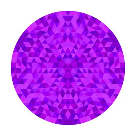 Ronde geometrische driehoek Caleidoscoop mandala ontwerp symmetrische vector patroon digitale kunst uit kleurrijke driehoeken