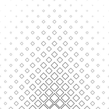 Black and white abstract square pattern background - monochrome vector design Illustration