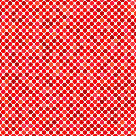 Colored dot pattern background - geometric vector design from red circles Illustration