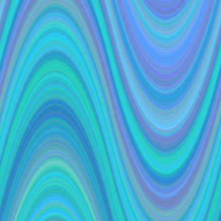 Light blue abstract wavy background from thin curved lines - vector graphic