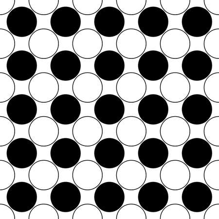 bleb: Repeating abstract black and white circle pattern - simple vector background design Illustration
