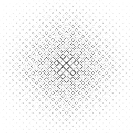 grid background: Black and white abstract square pattern background - monochromatic vector design from diagonal squares