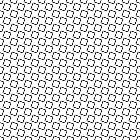 grid background: Monochrome seamless abstract square pattern background - black and white geometric halftone vector design from angular squares Illustration
