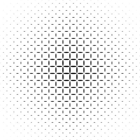 grid background: Monochrome abstract ellipse pattern background - black and white geometric halftone vector illustration